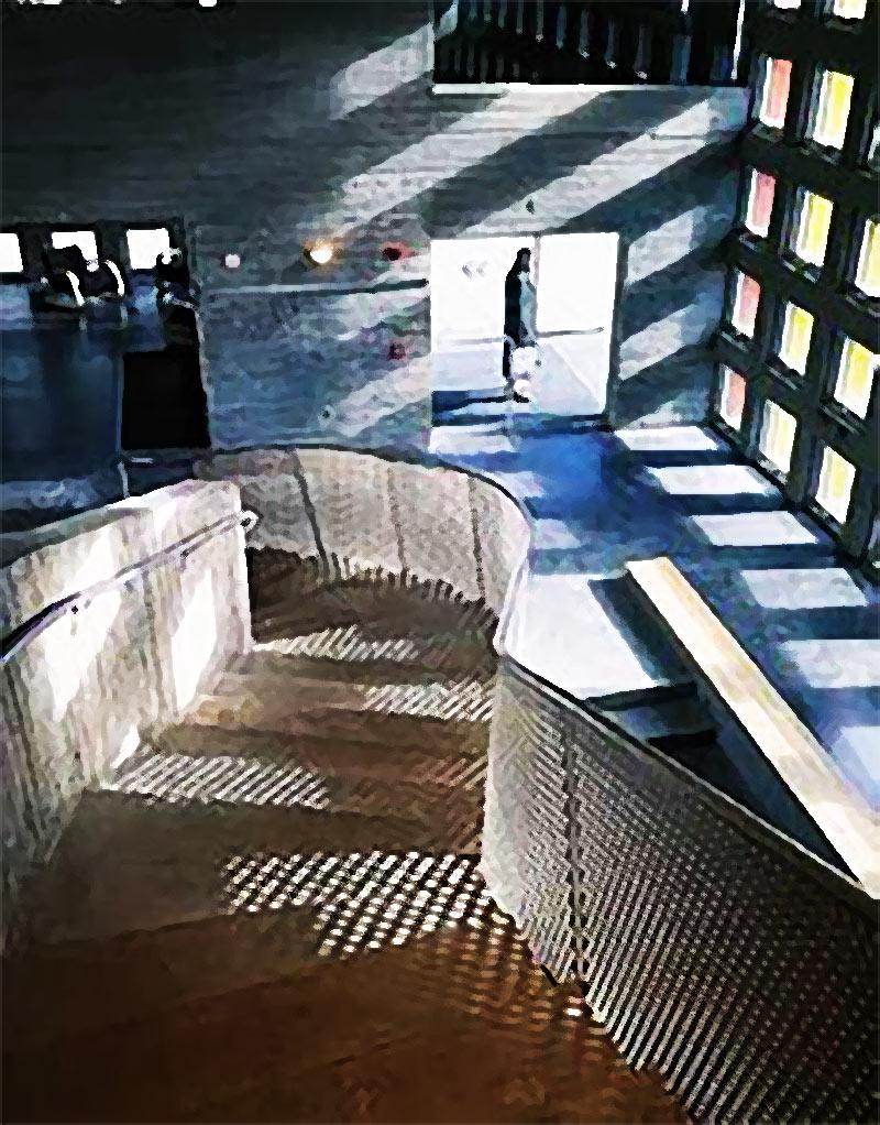 الضوء والظل في قاعة سيمونز في جامعة  MIT من تصميم ستيفين هول