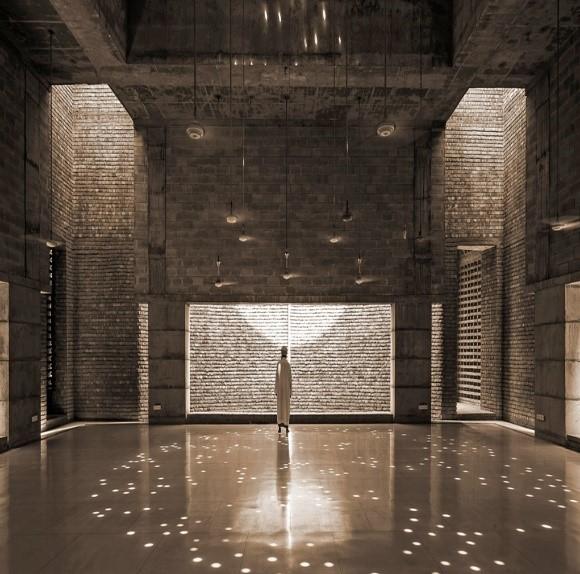 التصميم الداخلي لمسجد بيت الرؤوف من تصميم المعمارية مارينا تبسم