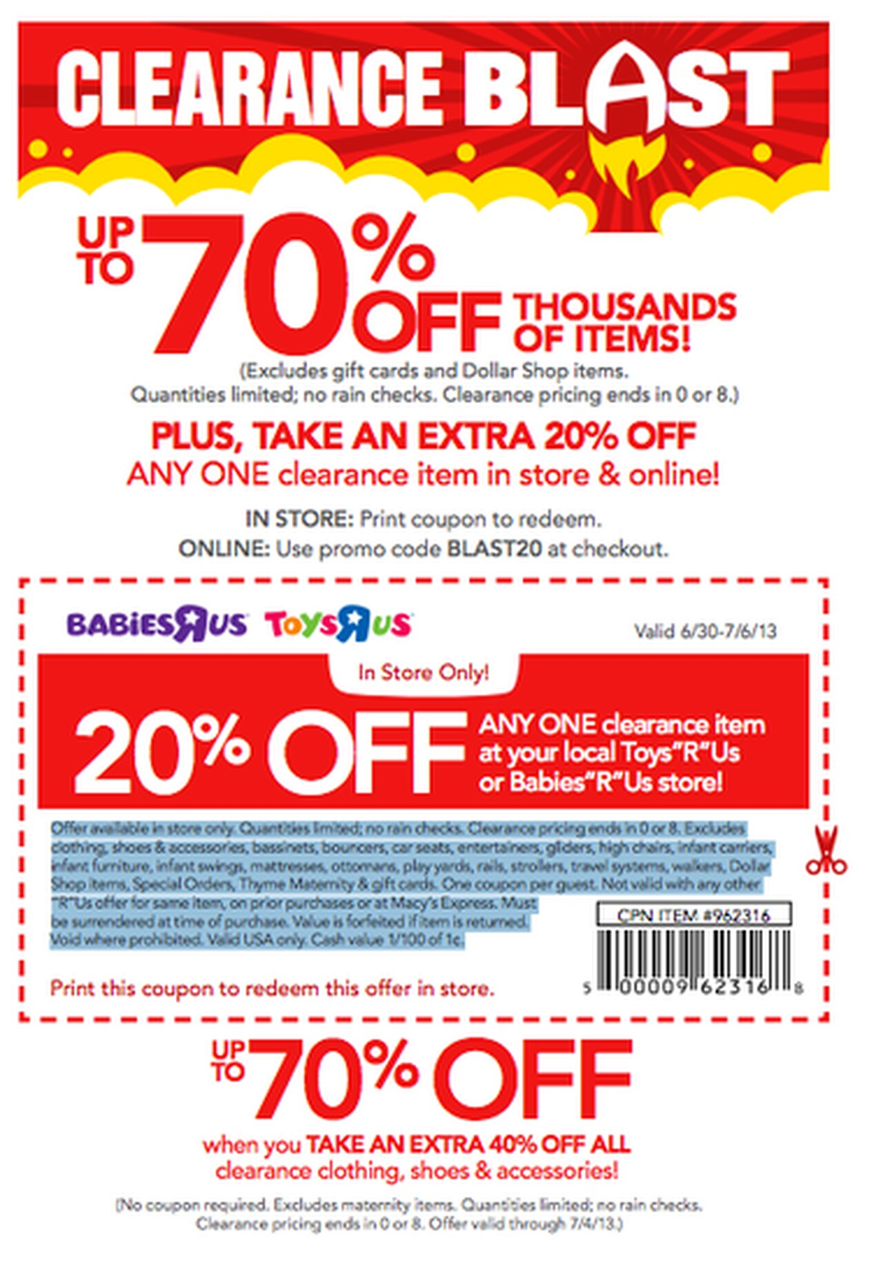 20 Off Babies R Us Online : babies, online, Babies, Coupon, (good, Clearance, Item), Al.com