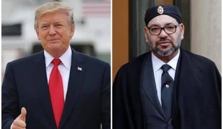 الملك محمد الساسد ودونالد ترامب
