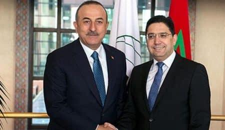 وزير الخارجية المغربية ونظيره التركي