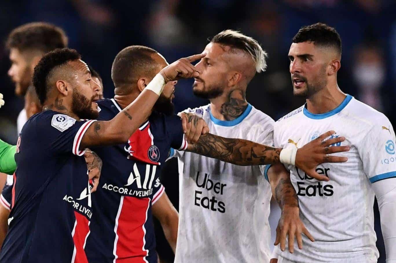 شجار في مباراة بالدوري الفرنسي