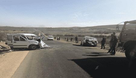 حادثة اصطدام سيارتين