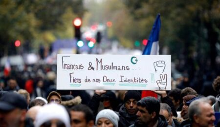 فرنسيون في وقفة سلمية