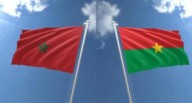 راية المغرب مع بوركينافاسو