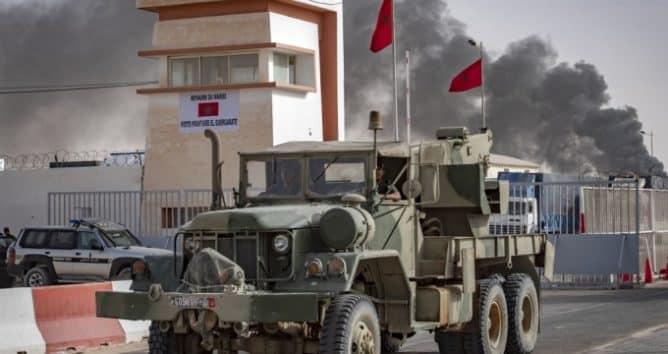 الكركرات - آلية عسكرية مغربية