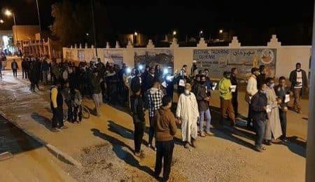 احتجاج مواطنين بزاكورة ضد بتر يد رضيع