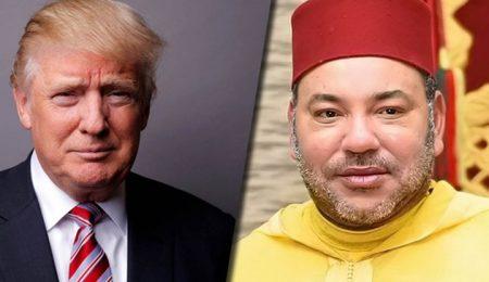 ملك المغرب ورئيس أمريكا
