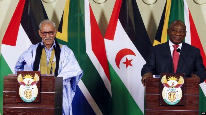 رئيس جنوب إفريقيا والرئيس الحالي للاتحاد الإفريقي