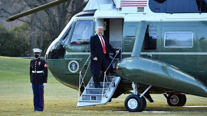 ترامب يغادر البيض الأبيض