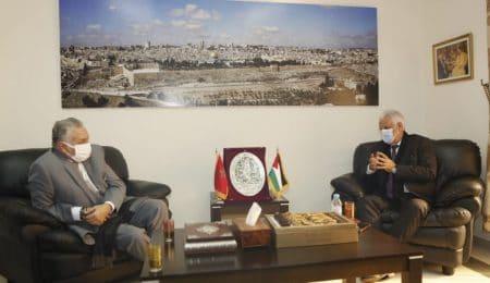 """الـPPS يزور سفير فلسطين لتجديد دعم القضية.. واختيار بنعبد الله عضوا بمؤسسة """"ياسر عرفات"""""""