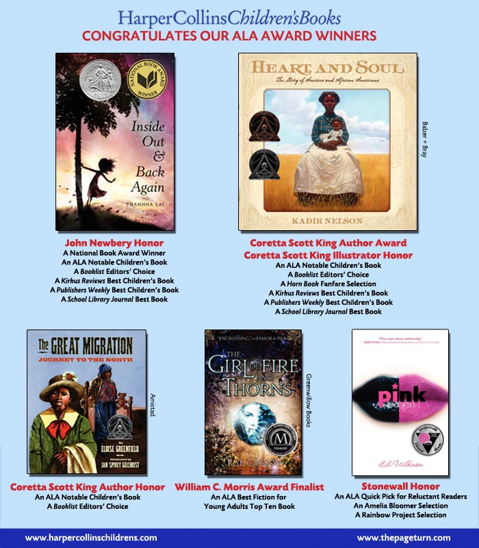 HarperCollins Children's Books Congratulates Our ALA Award Winners