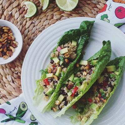 quiona veggie lettuce wraps