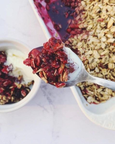 rhubarb and berries crisp 2