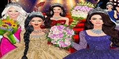 لعبة تلبيس ملكة الحفلة