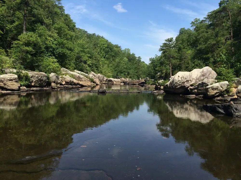 Martha's Falls area of Little River Falls Trail in Alabama