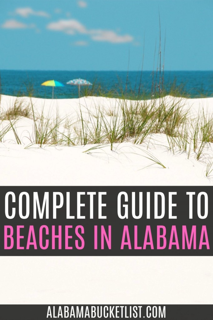 Pinterest pin graphic with white sand and blue waters of the beach with post title overlay