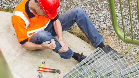 Man-Injured-By-Workplace-Fall-Hazards