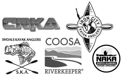 Alabama Kayak Fishing club logos