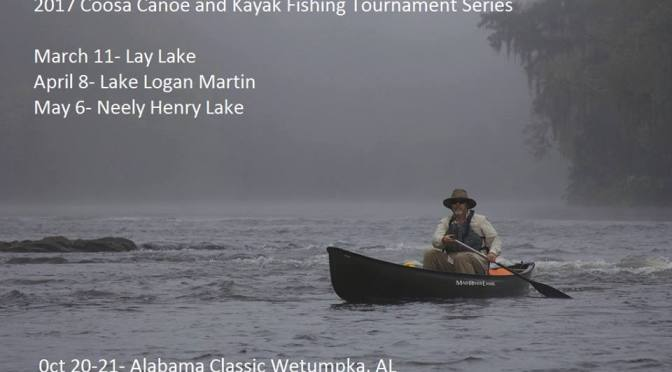 Trail dates released for Coosa Canoe & Kayak Fishing Tournament