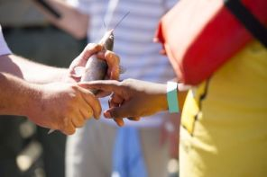 Adults show students the ropes at Gone Fishin', Not Just Wishin' (contributed)