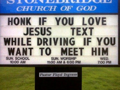 anti texting & driving Church sign
