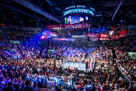 Deontay Wilder's first title defense in Alabama was sold out at Bartow Arena. (Nik Layman/Alabama NewsCenter)