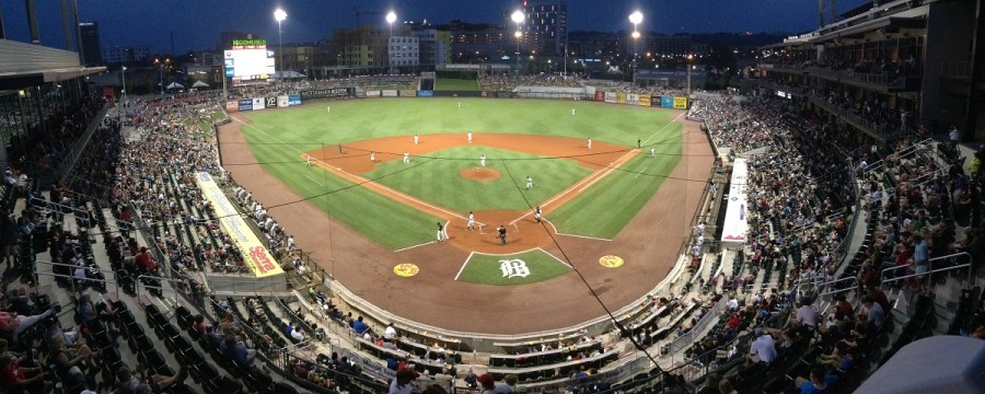 The Birmingham Barons' move to downtown Birmingham has been popular with fans, drawing more than 400,000 for two consecutive seasons. (Michael Wade)
