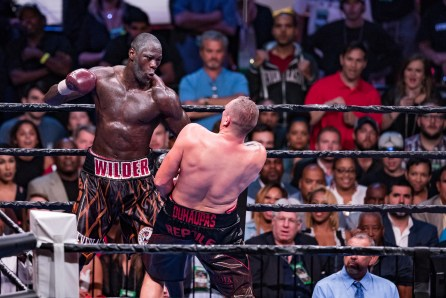 Deonta Wilder defends his WBC title against Johann Duhaupas in Birmingham Sept. 26 (Nik Layman/Alabama NewsCenter)
