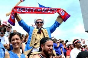 Chris Blinn dressed as George Washington to cheer on the U.S. team. (Solomon Crenshaw Jr./Alabama NewsCenter)