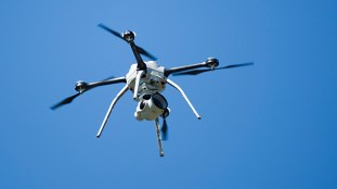Alabama Power is using UAVs to do work that is often difficult or dangerous to do with traditional methods. (Phil Free/Alabama NewsCenter)
