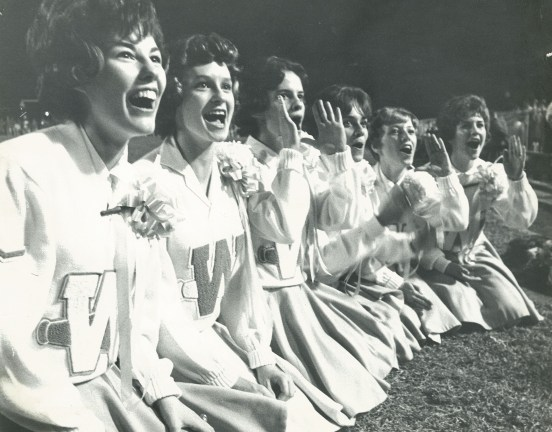 Among these cheerleaders is Debbie Johnson, who would later become Mrs. Tandy Gerelds. (contributed)