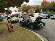 Classic cars display their goods.