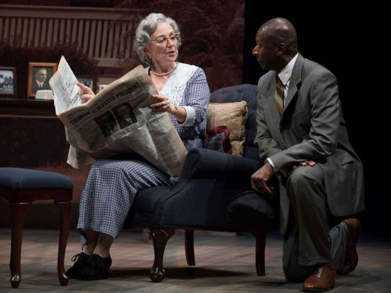 """Greta Lambert, left, stars with James Bowen in """"Driving Miss Daisy."""" (contributed)"""