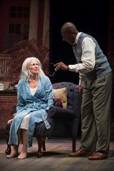 """Greta Lambert (with James Bowen) ages more than 20 years in """"Driving Miss Daisy."""" (contributed)"""