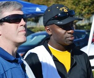 Former players Austin Boyd and Keidane McAlpine attended the tribute to Preston Goldfarb. (Solomon Crenshaw Jr./Alabama NewsCenter)