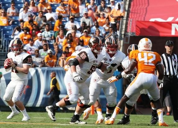 Bowling Green quarterback Matt Johnson surveys the field. (contributed)