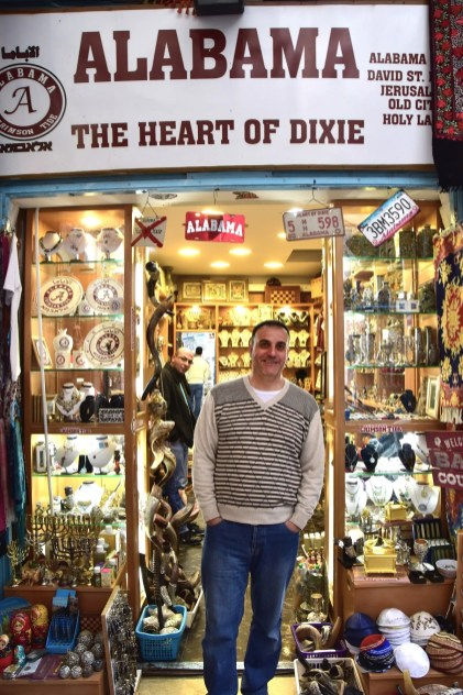 Hani Imam stands outside his shop in Jerusalem. (Karim Shamsi-Basha/Alabama NewsCenter)