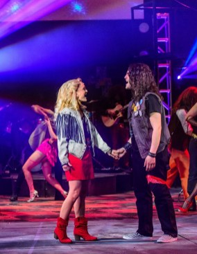 """Daniel C. Jackson and Hannah Comedy are the stars of """"Rock of Ages."""" (contributed/Clark Scott)"""
