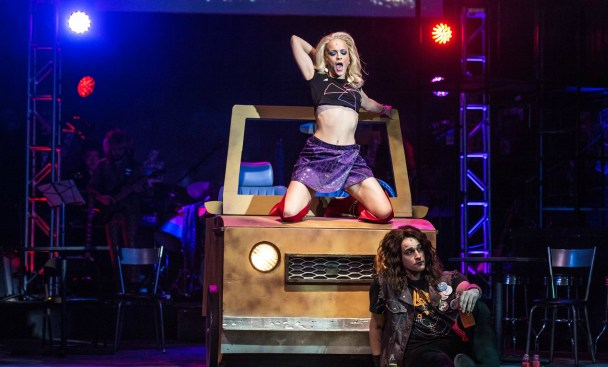 "Hannah Comedy and Daniel C. Jackson star in ""Rock of Ages"" (contributed/Clark Scott)"