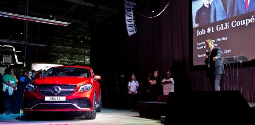 Alabama Gov. Robert Bentley speaks at the celebration for the new Mercedes GLE Coupe at the Mercedes plant in Tuscaloosa County last April. (Jamie Martin/Governor's Office)