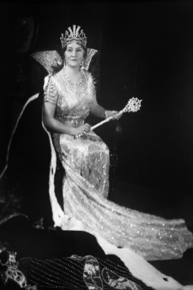 A photograph of Ethel Hodgson, Mobile's first Mardi Queen 1893, is displayed at the Mobile Carnival Museum in Mobile. (Mobile Carnival Museum)