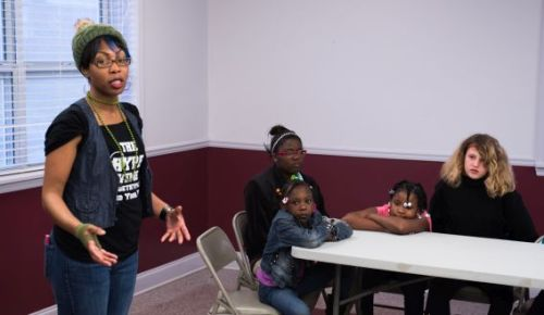 At the Talladega Housing Authority's Knoxville Homes, Winfrey works with 25-30 children in each counseling session.