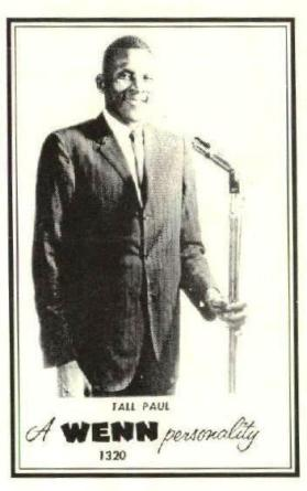 Tall Paul White was one of the stars of WENN-AM 1320 in 1962. (contributed)