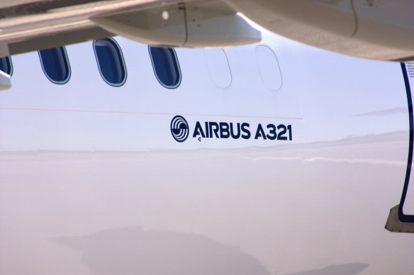 The first Alabama-built Airbus A321 airplane had its first successful test flight. (Robert DeWitt/Alabama NewsCenter)