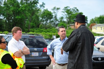 Alabama Power and Southern Company officials visit tornado-ravaged neighborhoods following the April 27, 2011 storms.