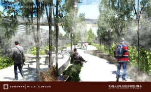 A look at a portion of the new Rotary Trail as envisioned by Goodwyn Mills and Cawood. (Goodwyn Mills and Cawood)