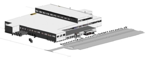 This rendering shows what the new $80 million Katmek plant will look like. (contributed)