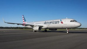 The first Airbus A321 wearing American livery emerges from the paint shop at the Alabama facility. (Photo courtesy of Airbus)