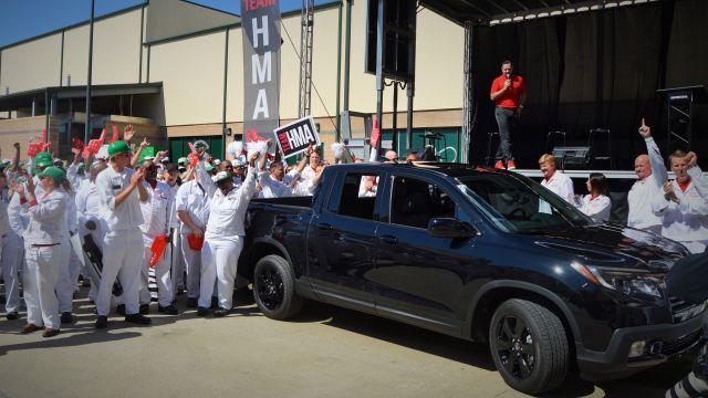 Launch Party: Honda starts Ridgeline mass production